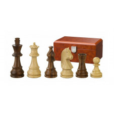 Wooden Chessmen hand-carved Titus KH 76 mm