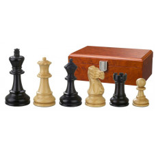 Wooden Chessmen Hand-carved Hadrian KH 90 mm