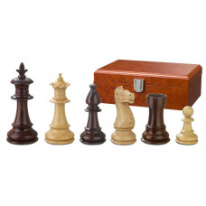 Wooden Chess pieces Hand-carved Claudius KH 83 mm