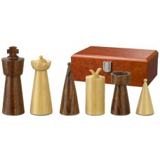 Wooden Chessmen 90 mm Modern Style Galba