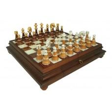 Schack set Superior XL Alabaster-bräde