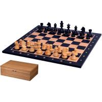 Schack komplett set Tournament Svart L