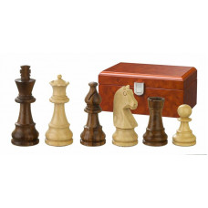 Wooden Chessmen hand-carved Titus KH 83 mm