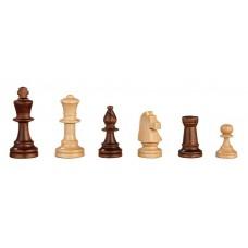 Schackpjäser Heinrich handsnidade i al-trä KH 70 mm