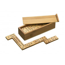 Dominos Double 6 Bamboo in wooden box