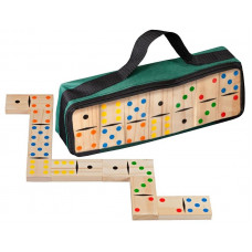 Dominos Double 6 Wooden in carrying bag