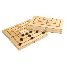 Kvarnspel i trä M Praktisk kassett design