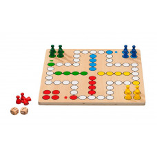 Ludo / Dice Game M Standard Made of Plywood