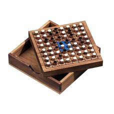 Reversi / Othello resespel i låda av samena-trä S