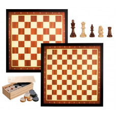 Draughts 10x10 & Chess 8x8 Two In One Tournament