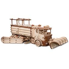 Wooden 3D puzzle Snow Truck